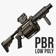 Milkor MGL-140 Low Poly 3d model