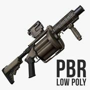 Milkor MGL-140 Low Poly 3d model