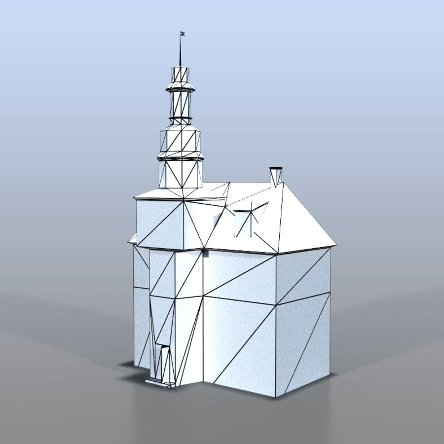 German house v3 royalty-free 3d model - Preview no. 8
