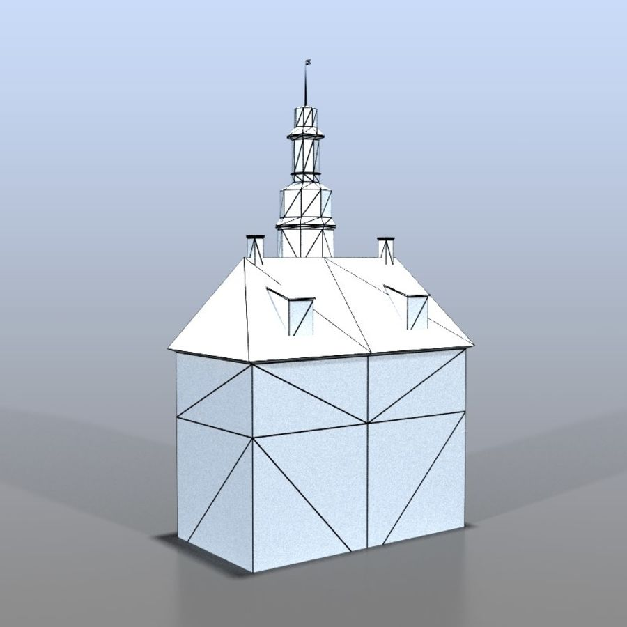 German house v3 royalty-free 3d model - Preview no. 10