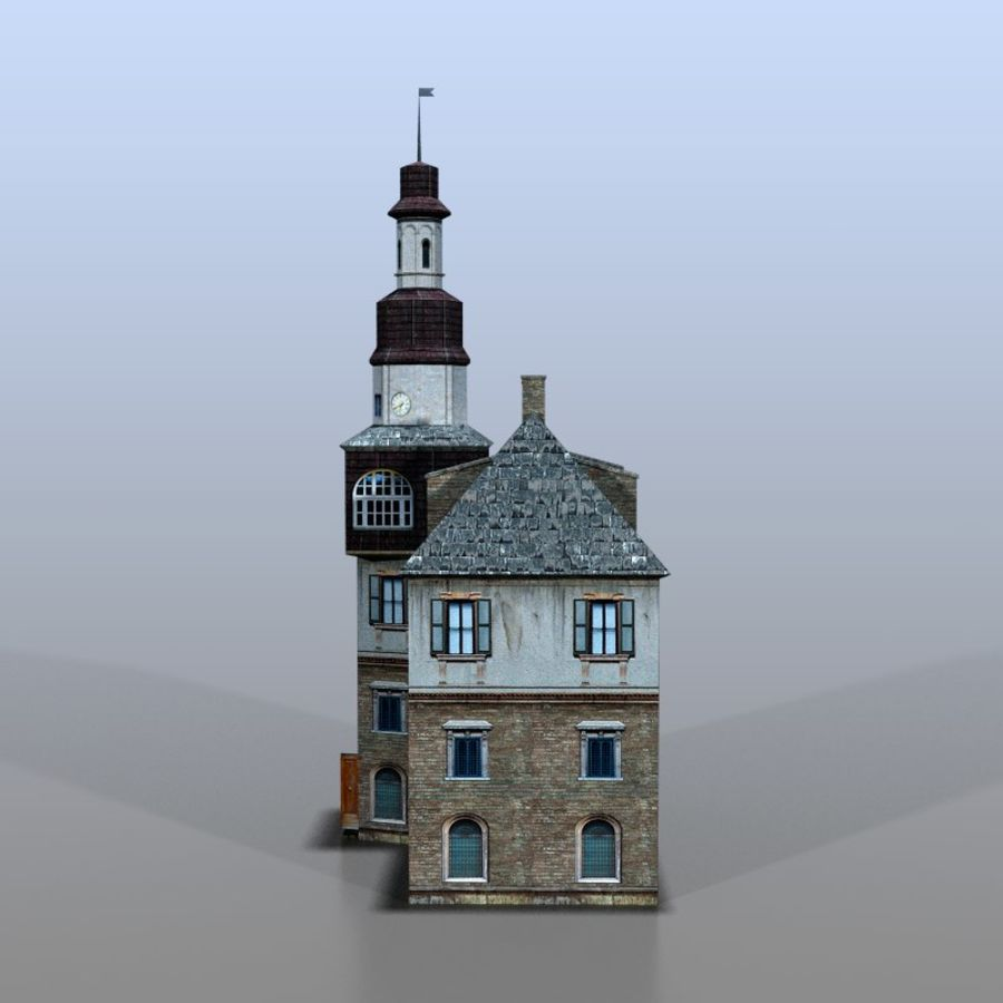 German house v3 royalty-free 3d model - Preview no. 3