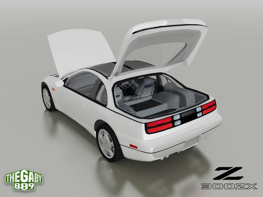 日产300 ZX royalty-free 3d model - Preview no. 6