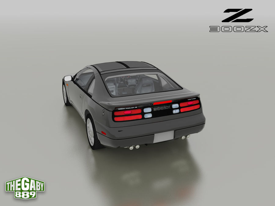日产300 ZX royalty-free 3d model - Preview no. 16