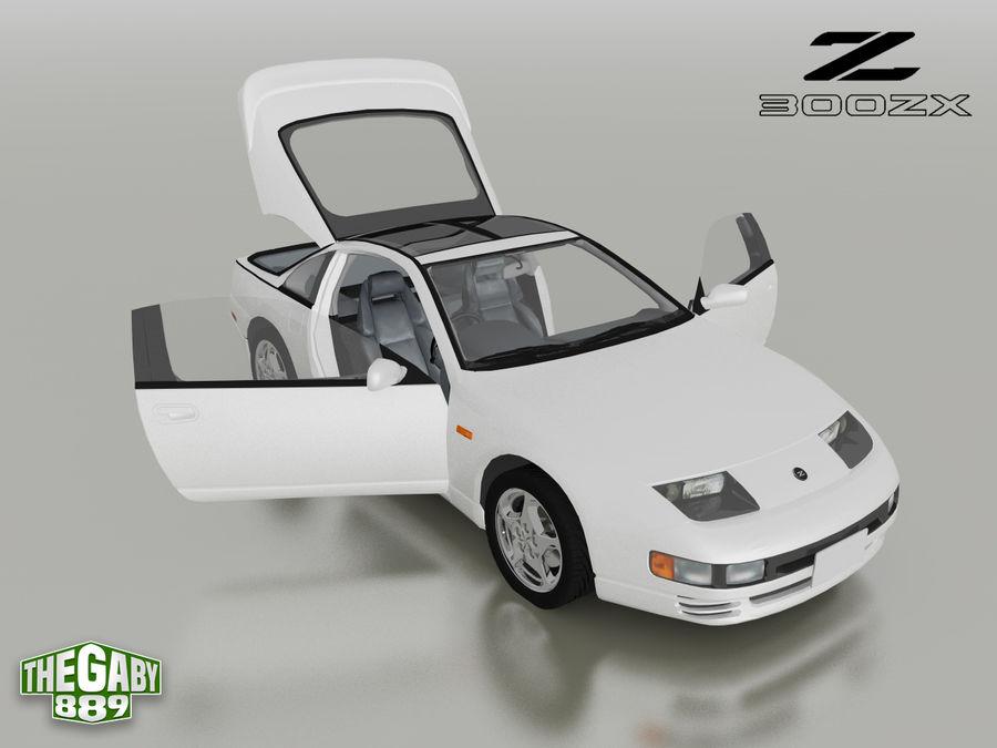 日产300 ZX royalty-free 3d model - Preview no. 5