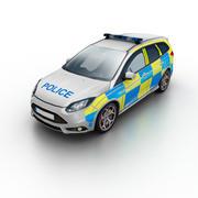 低聚警车英国 3d model
