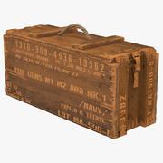 Ящик с боеприпасами 3D модель 3d model