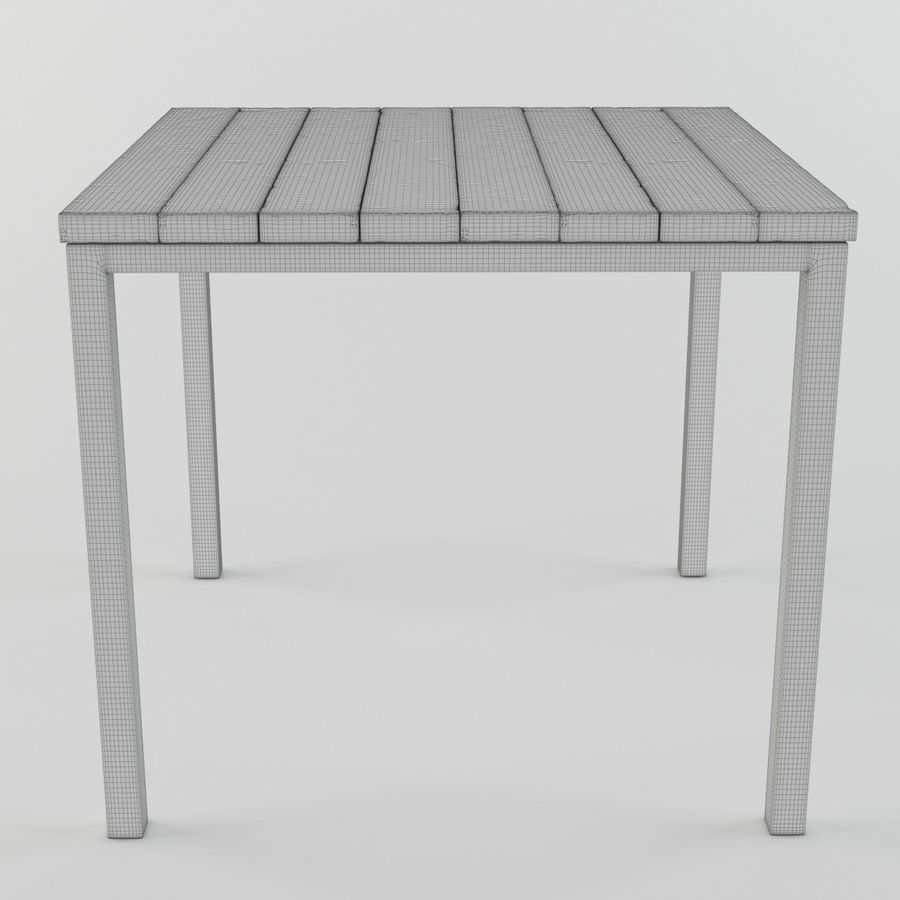 Träbord royalty-free 3d model - Preview no. 8