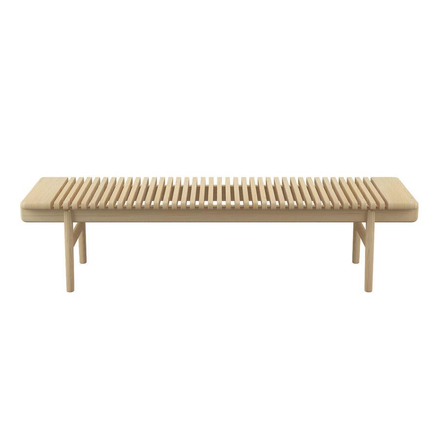 Барная скамья PP589 - Ханс Дж Вегнер royalty-free 3d model - Preview no. 4