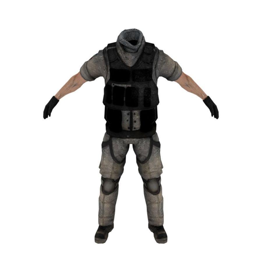 Military Uniform 1 3D Model $39 -  unknown  max  obj  dae  3ds  fbx