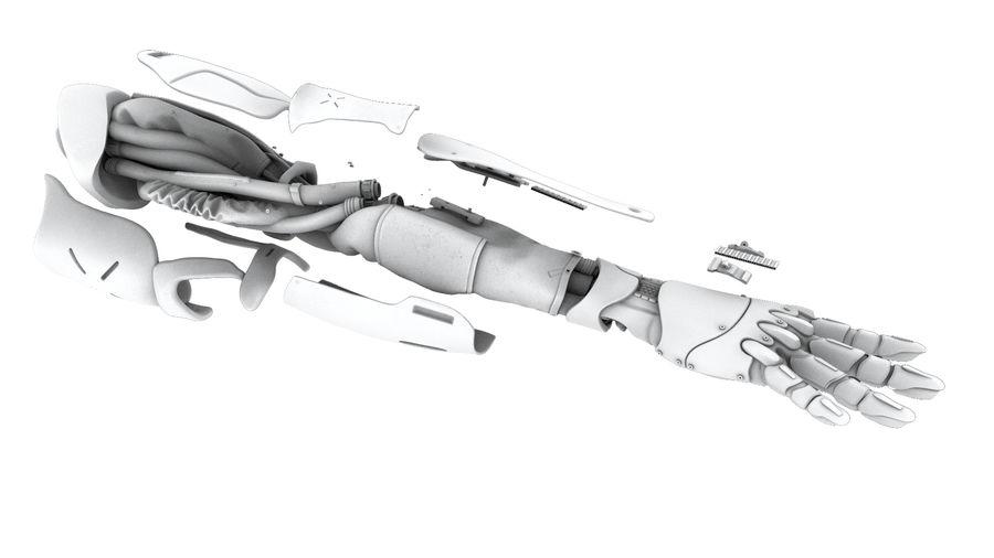 Рука робота royalty-free 3d model - Preview no. 11