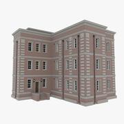 Brick apartment nine with interior textured 3d model