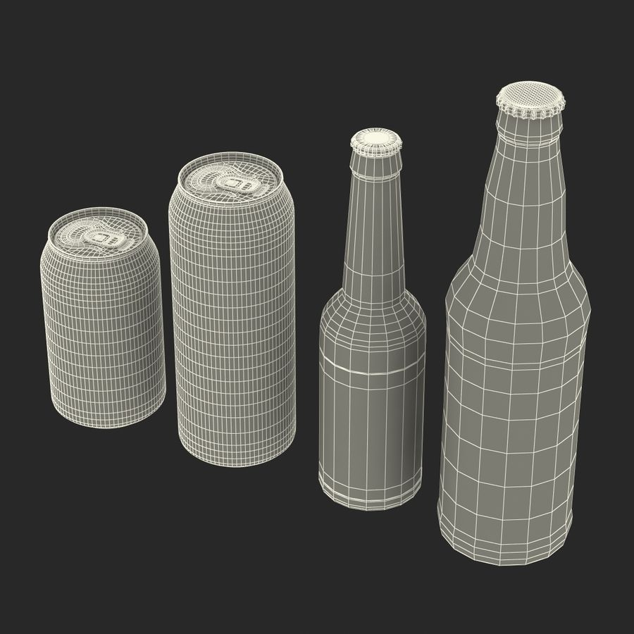 Bottles Collection 2 royalty-free 3d model - Preview no. 60