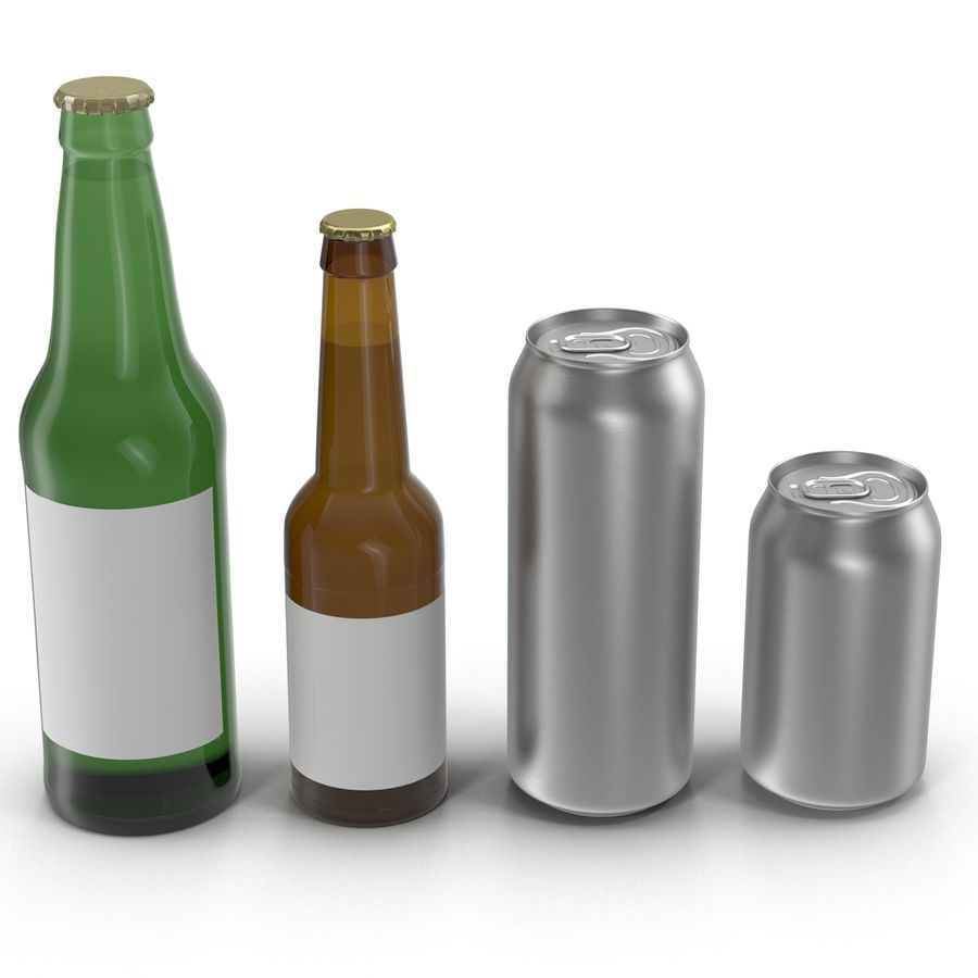 Bottles Collection 2 royalty-free 3d model - Preview no. 2