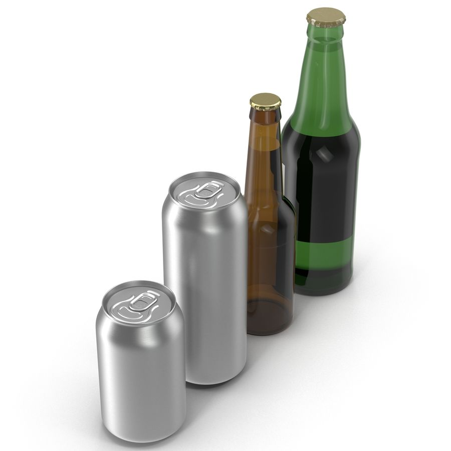 Bottles Collection 2 royalty-free 3d model - Preview no. 4