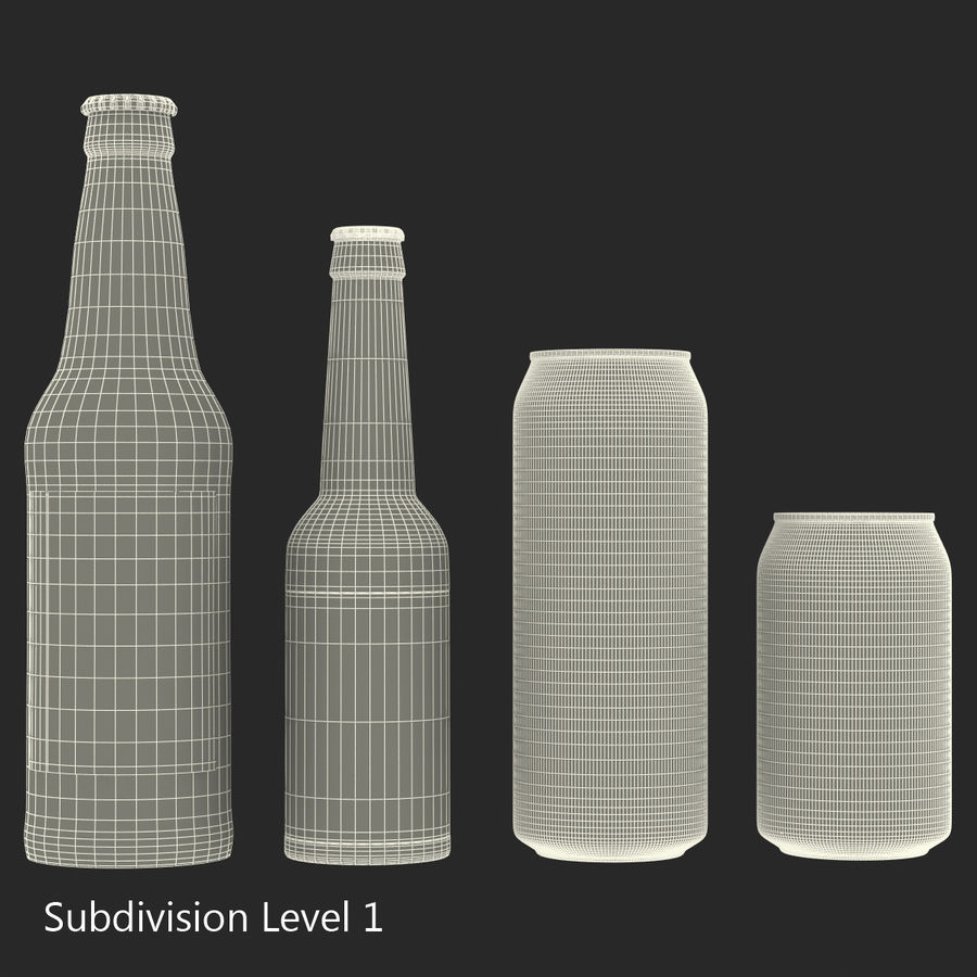 Bottles Collection 2 royalty-free 3d model - Preview no. 46