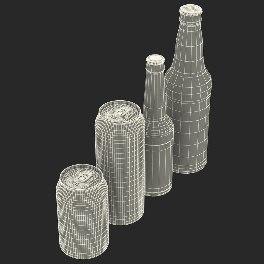 Bottles Collection 2 royalty-free 3d model - Preview no. 59