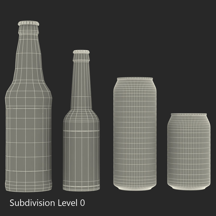 Bottles Collection 2 royalty-free 3d model - Preview no. 45