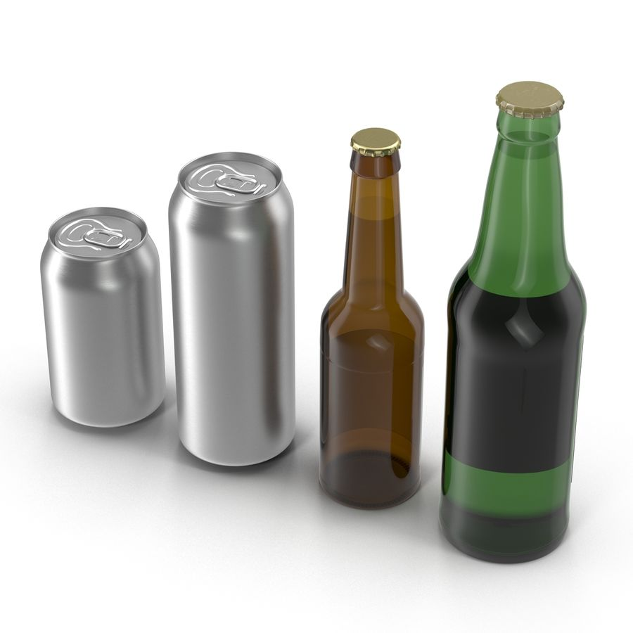 Bottles Collection 2 royalty-free 3d model - Preview no. 5