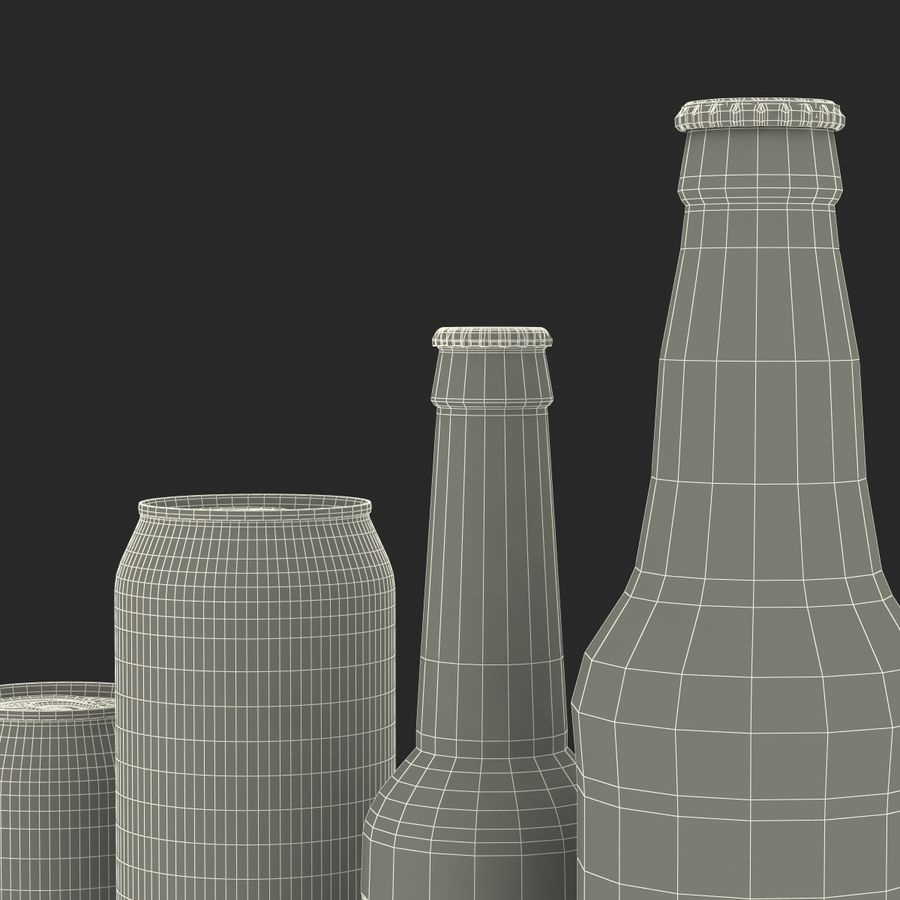 Bottles Collection 2 royalty-free 3d model - Preview no. 61