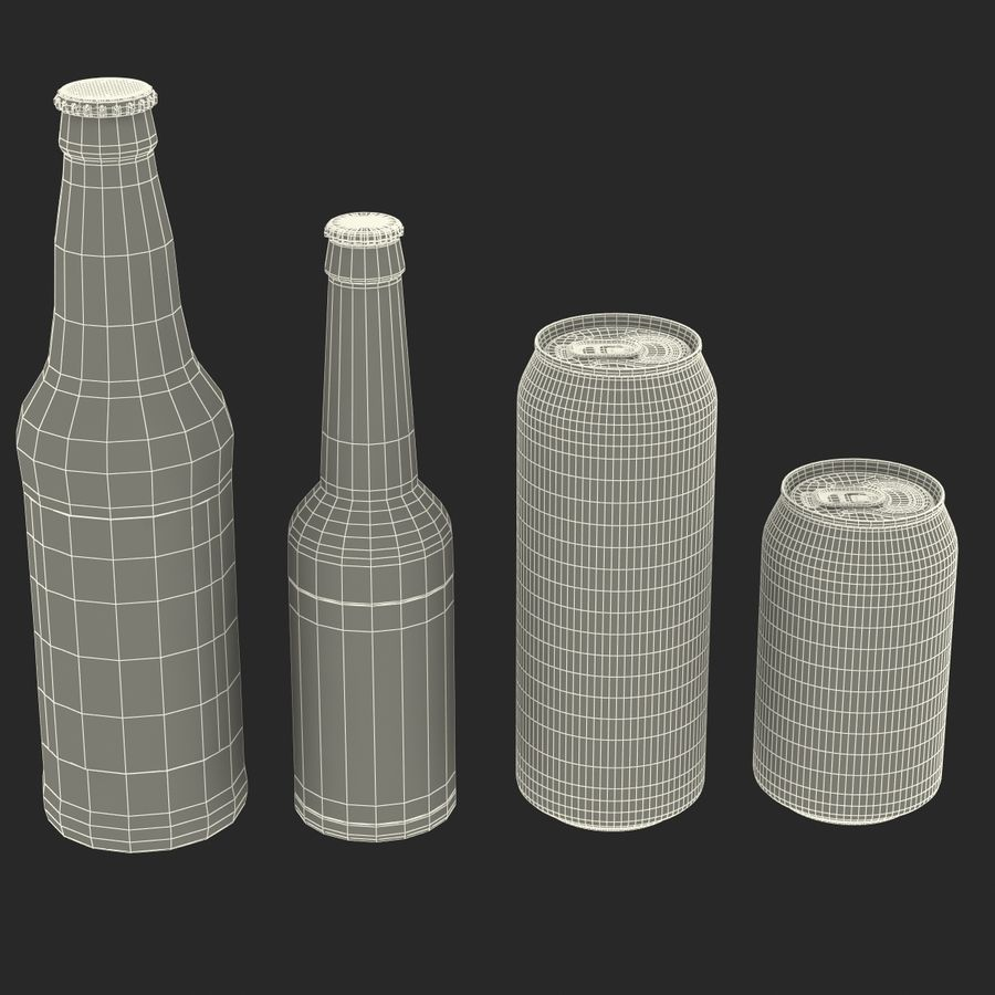 Bottles Collection 2 royalty-free 3d model - Preview no. 58