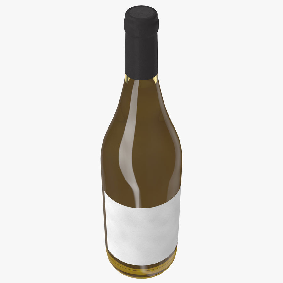 wine bottle white wine royalty-free 3d model - Preview no. 6