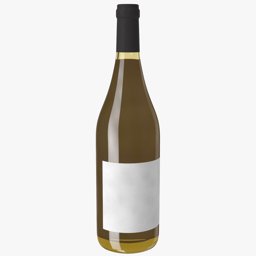 wine bottle white wine royalty-free 3d model - Preview no. 2