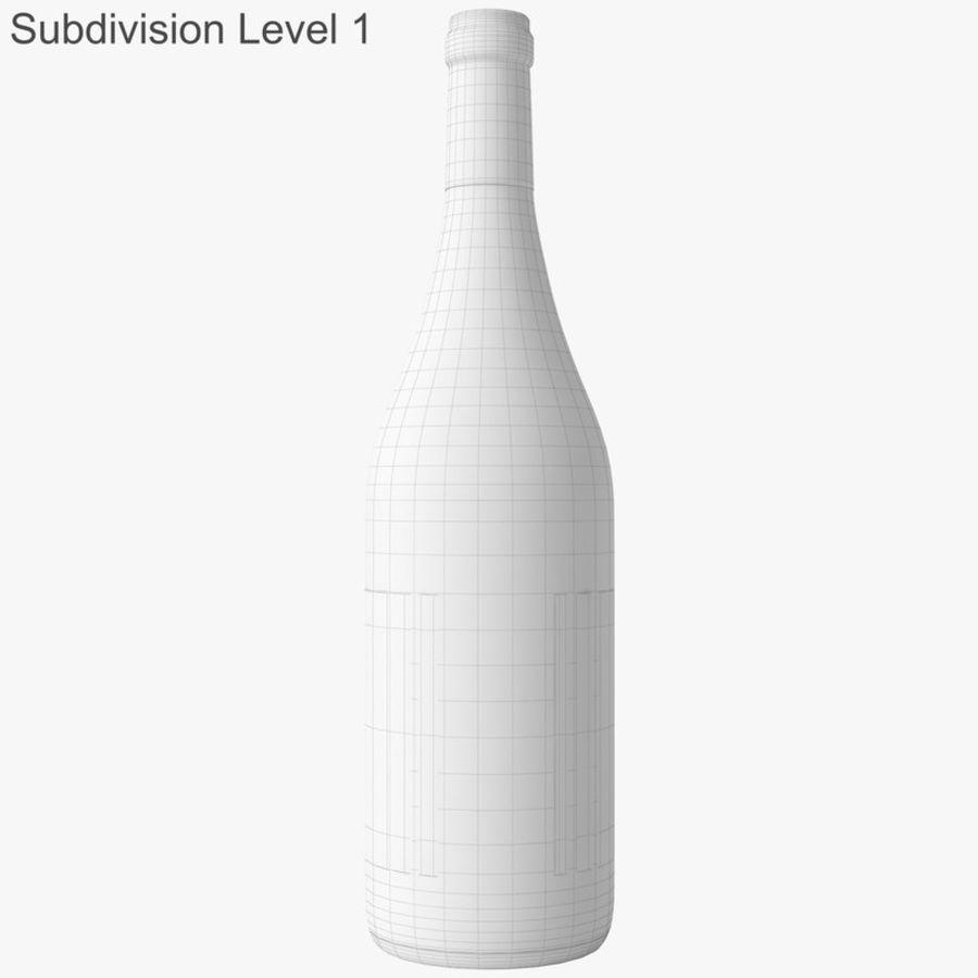 bouteille de vin vin blanc royalty-free 3d model - Preview no. 44