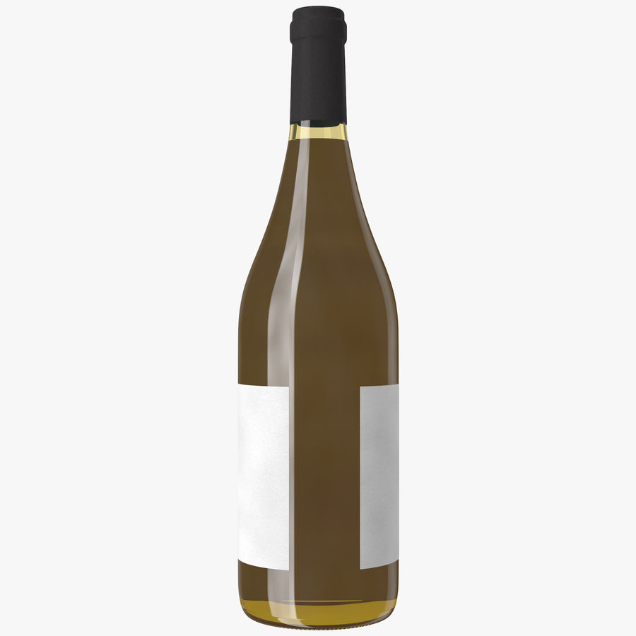 wine bottle white wine royalty-free 3d model - Preview no. 14