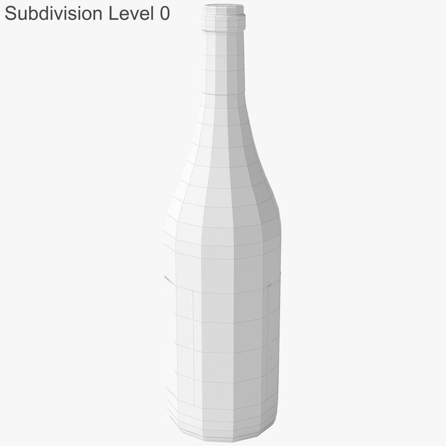 bouteille de vin vin blanc royalty-free 3d model - Preview no. 20