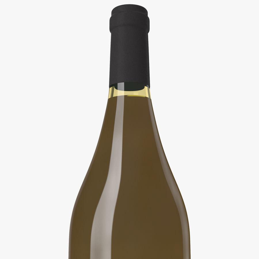 bouteille de vin vin blanc royalty-free 3d model - Preview no. 8
