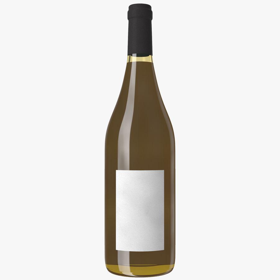 bouteille de vin vin blanc royalty-free 3d model - Preview no. 13