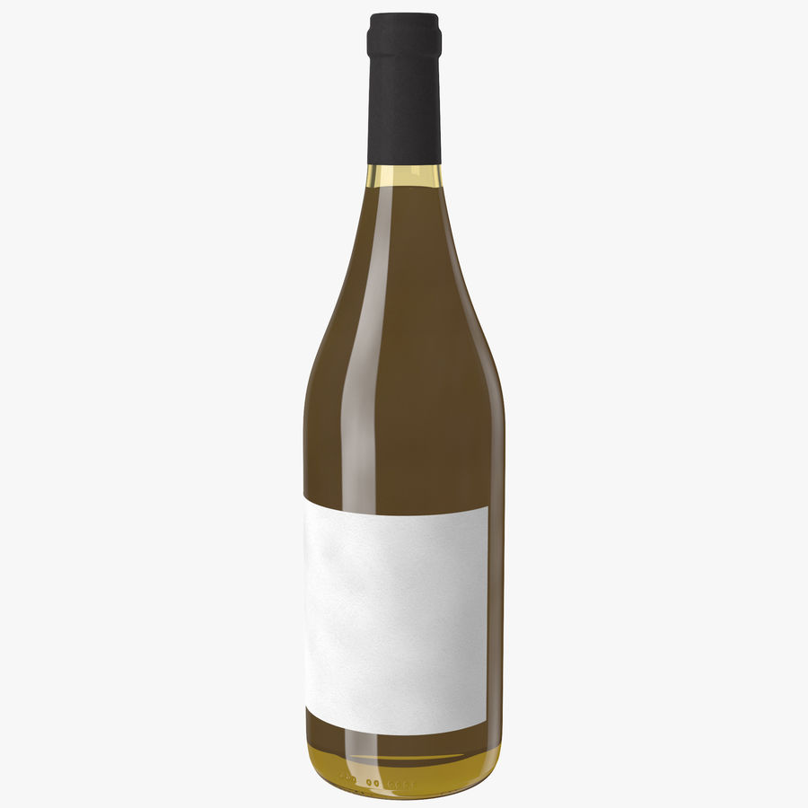 wine bottle white wine royalty-free 3d model - Preview no. 1