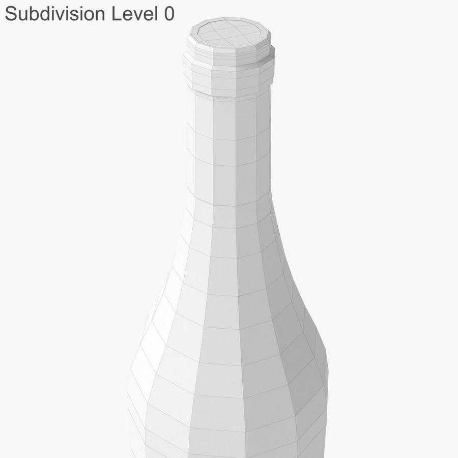 bouteille de vin vin blanc royalty-free 3d model - Preview no. 27