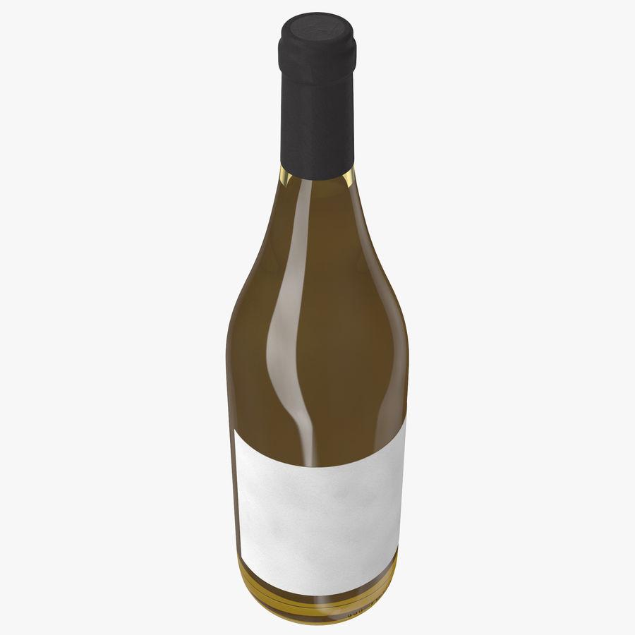 bouteille de vin vin blanc royalty-free 3d model - Preview no. 6