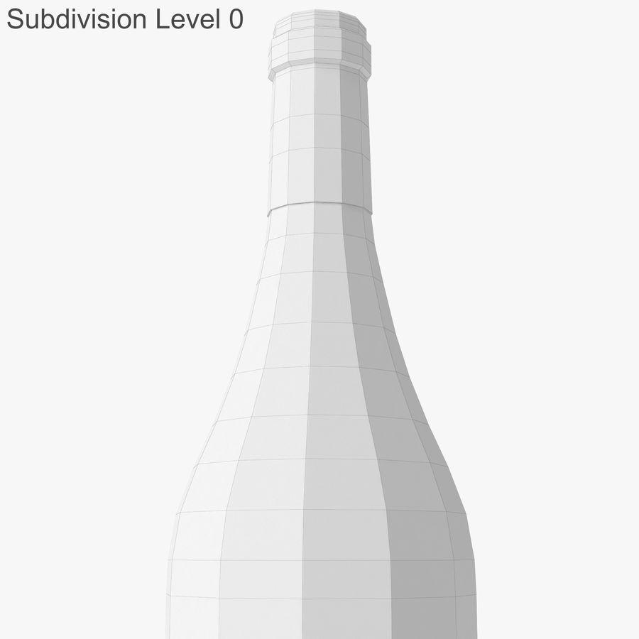 bouteille de vin vin blanc royalty-free 3d model - Preview no. 24