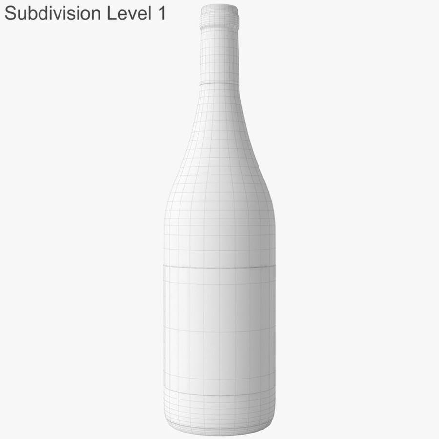 bouteille de vin vin blanc royalty-free 3d model - Preview no. 42