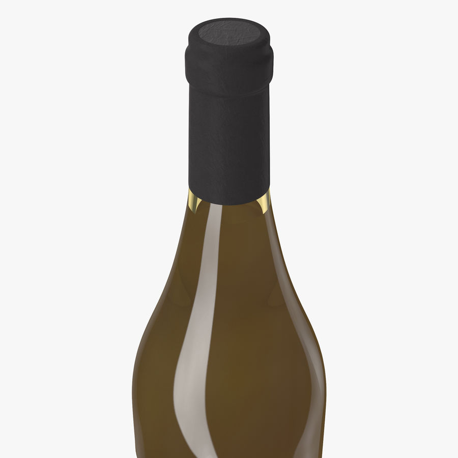 wine bottle white wine royalty-free 3d model - Preview no. 11