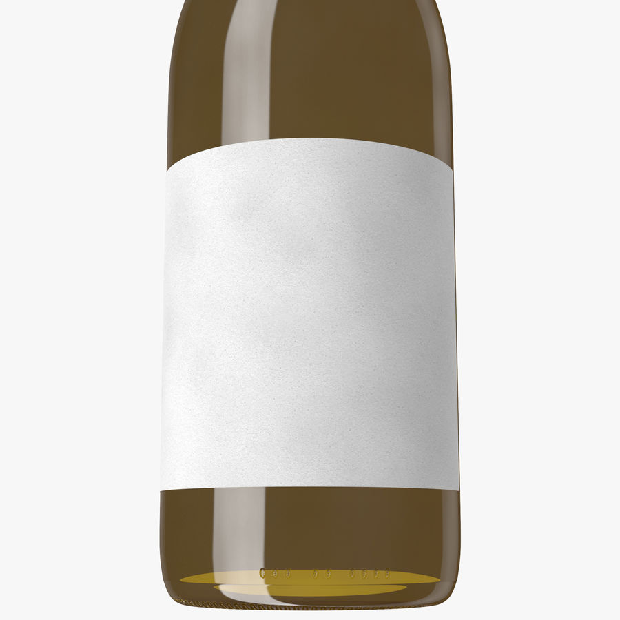 wine bottle white wine royalty-free 3d model - Preview no. 9