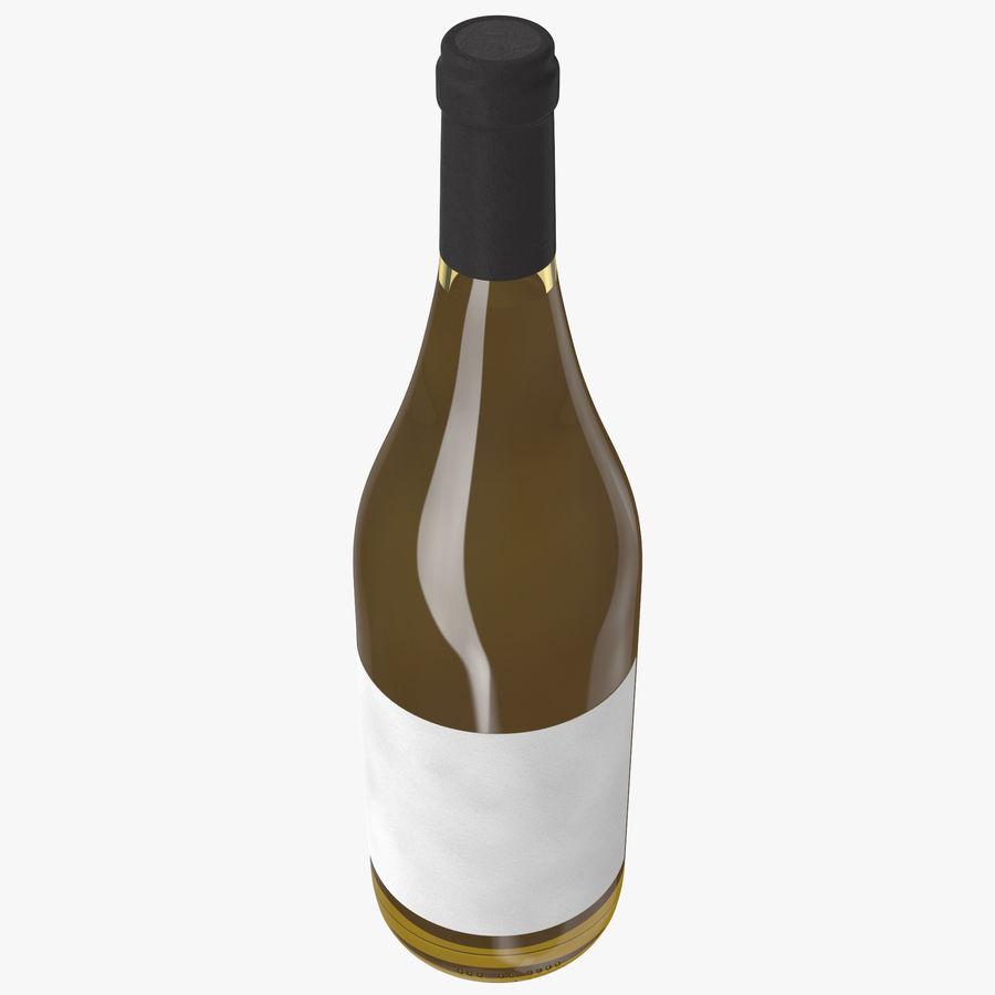 bouteille de vin vin blanc royalty-free 3d model - Preview no. 5