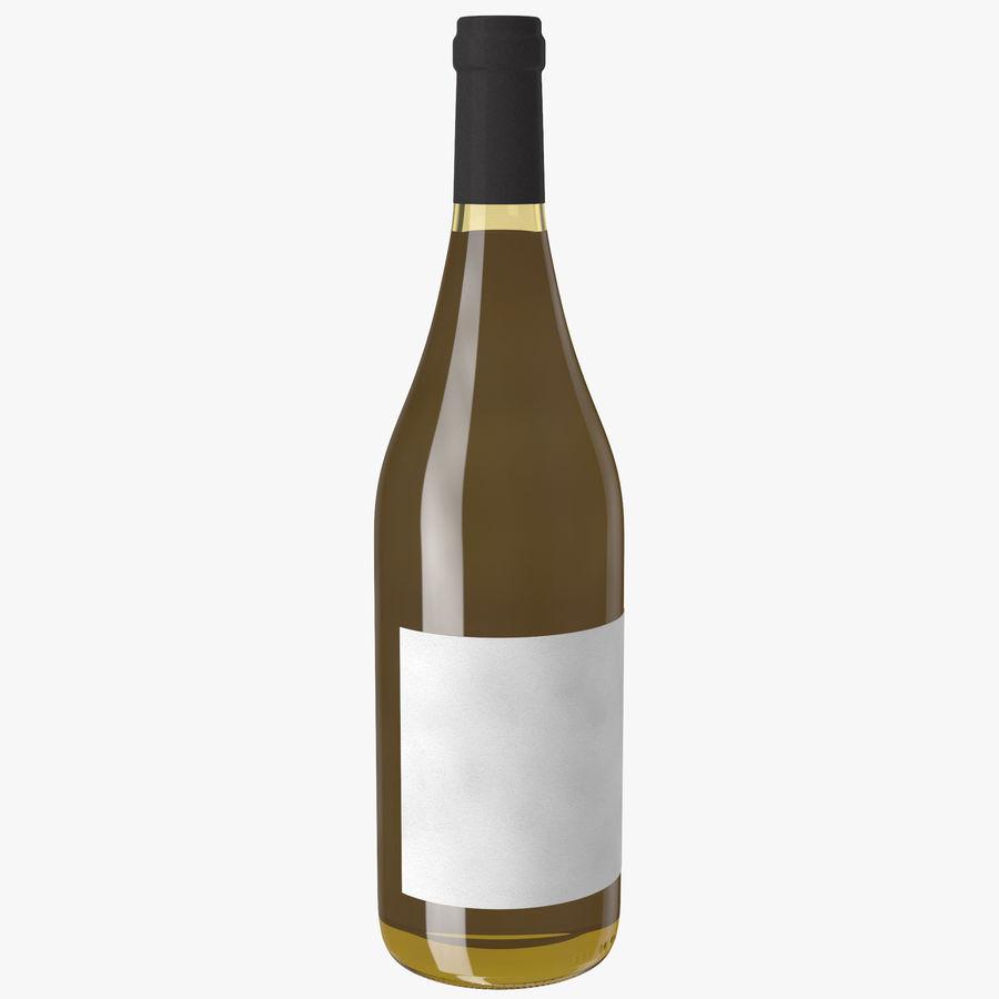 bouteille de vin vin blanc royalty-free 3d model - Preview no. 2