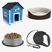 Dog Accessories Set 3d model