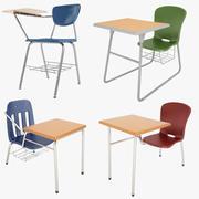 Coleção de mesa de estudante 01 3d model