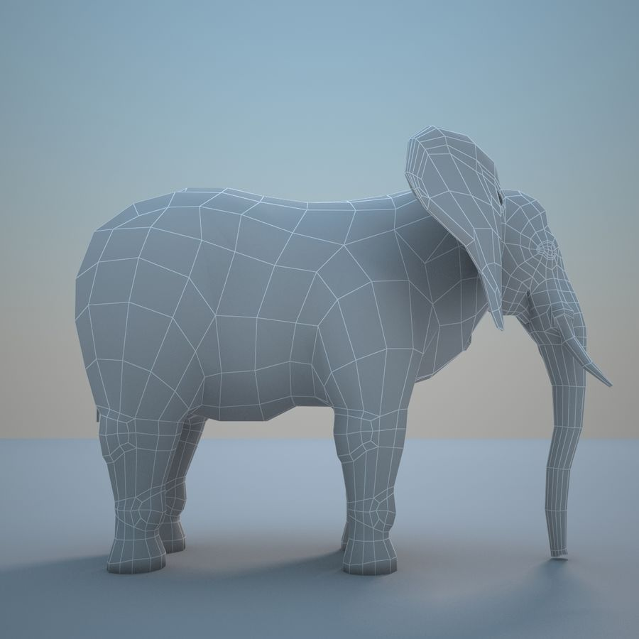 Safari animals collection royalty-free 3d model - Preview no. 23