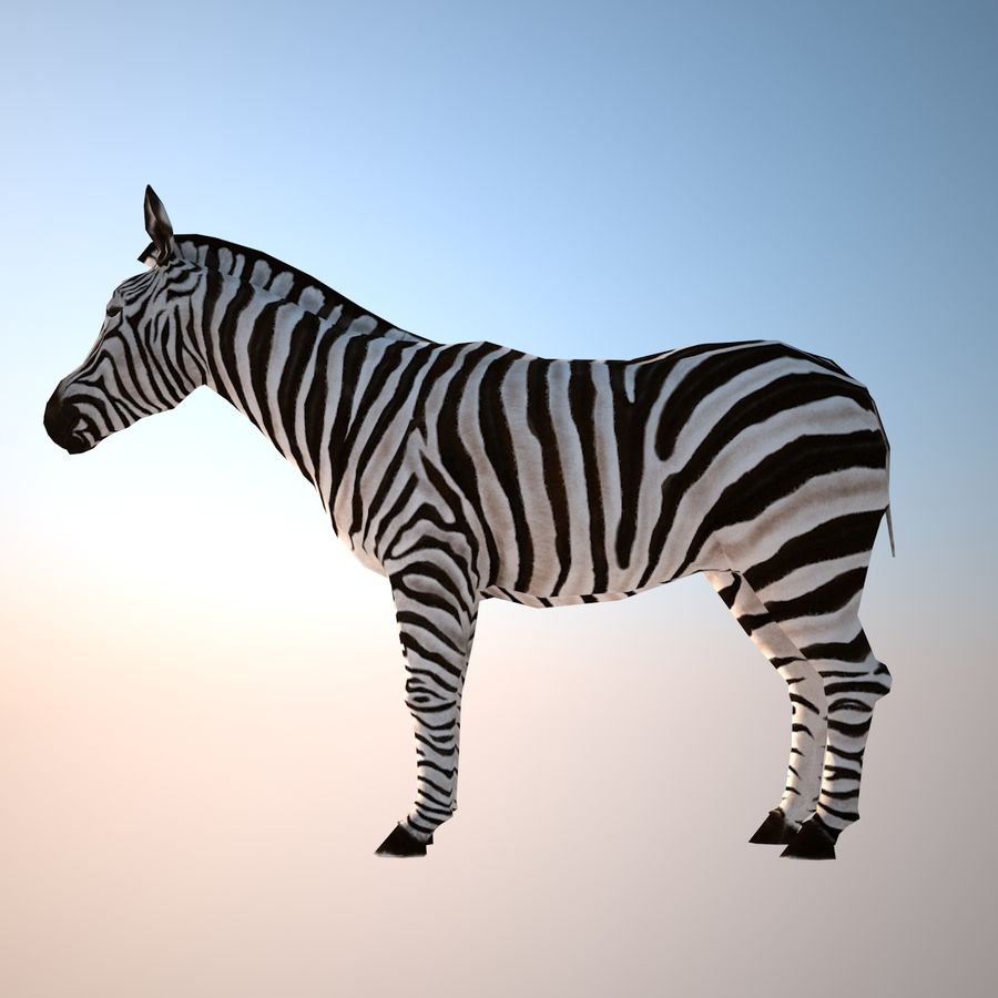 Safari animals collection royalty-free 3d model - Preview no. 3