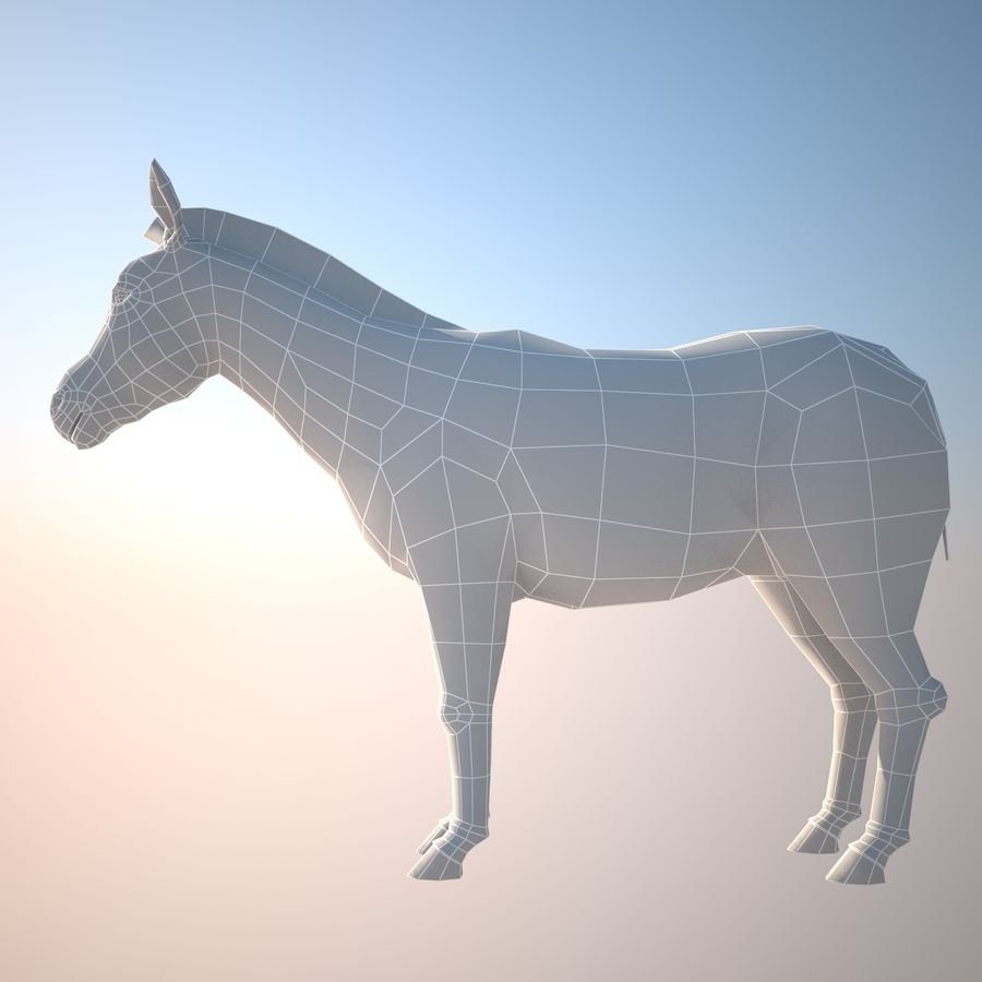 Safari animals collection royalty-free 3d model - Preview no. 7