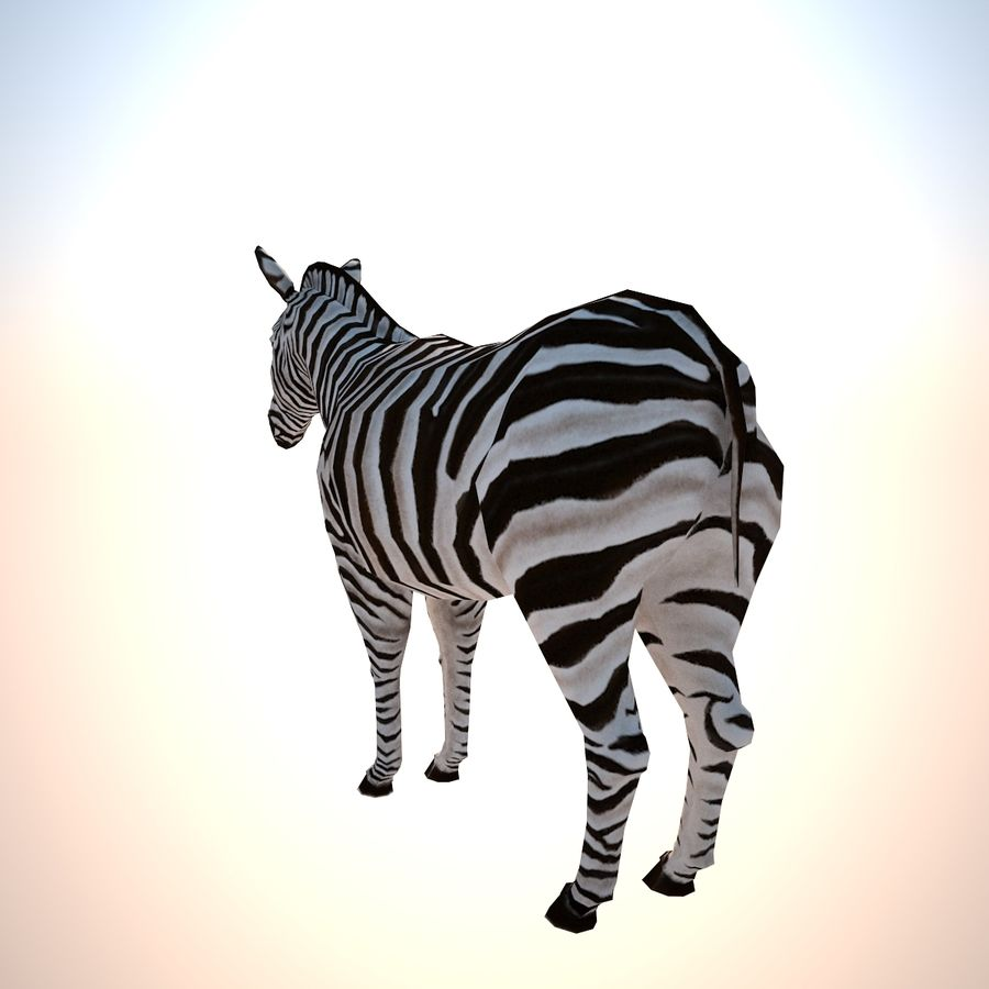 Safari animals collection royalty-free 3d model - Preview no. 4