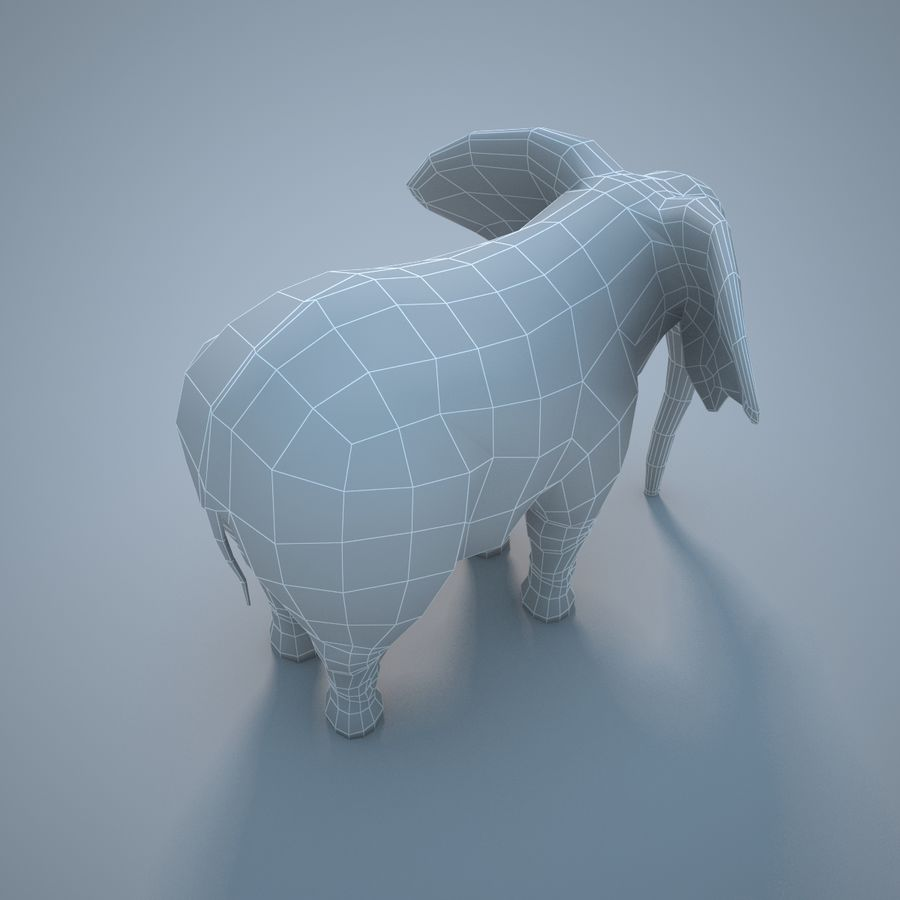 Safari animals collection royalty-free 3d model - Preview no. 24