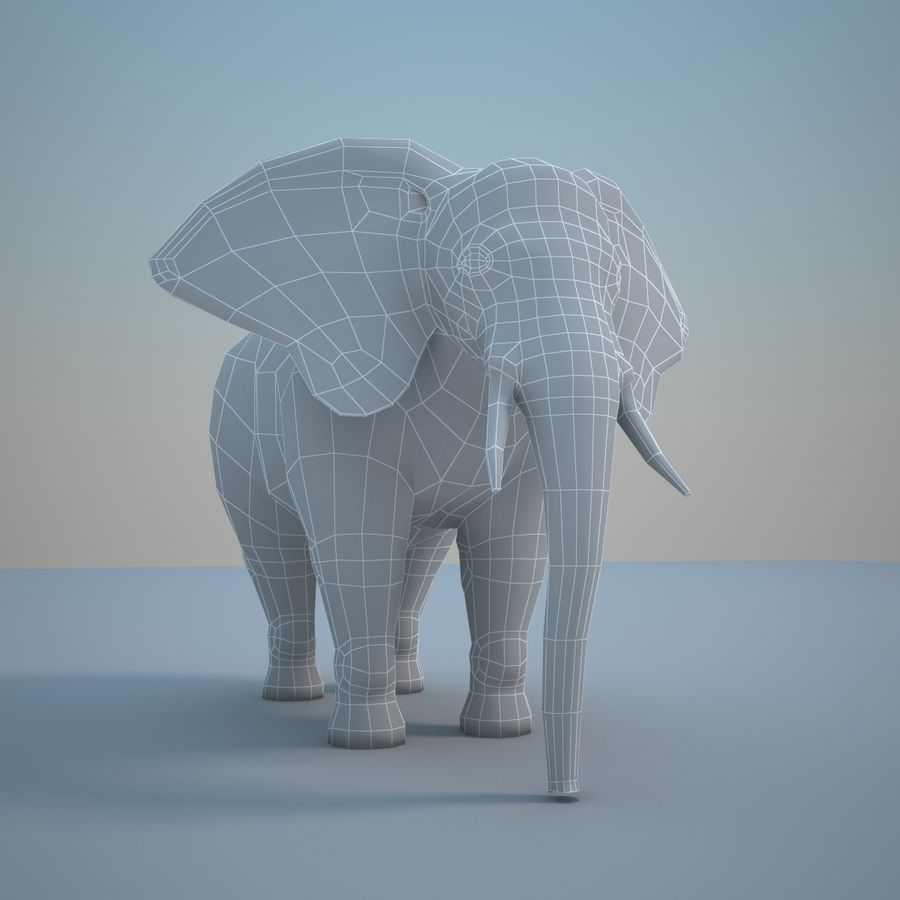 Safari animals collection royalty-free 3d model - Preview no. 25