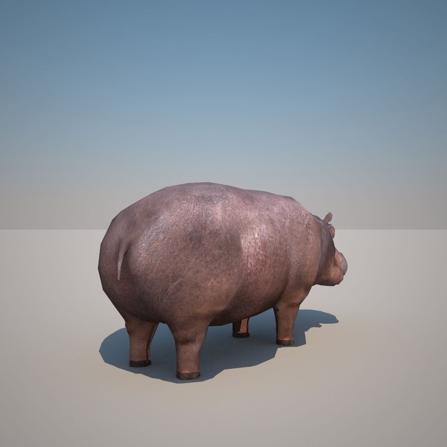 Safari animals collection royalty-free 3d model - Preview no. 27
