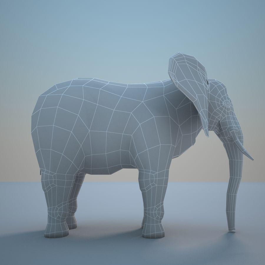 Safari djur samling royalty-free 3d model - Preview no. 23